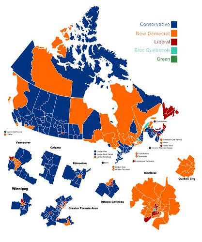 Results of 2011 federal election, Canada