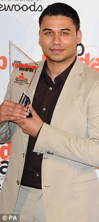 Winners: Sexiest Male Scott Maslen (left), Best Newcomer Ricky Norwood and Best Actor Danny Miller