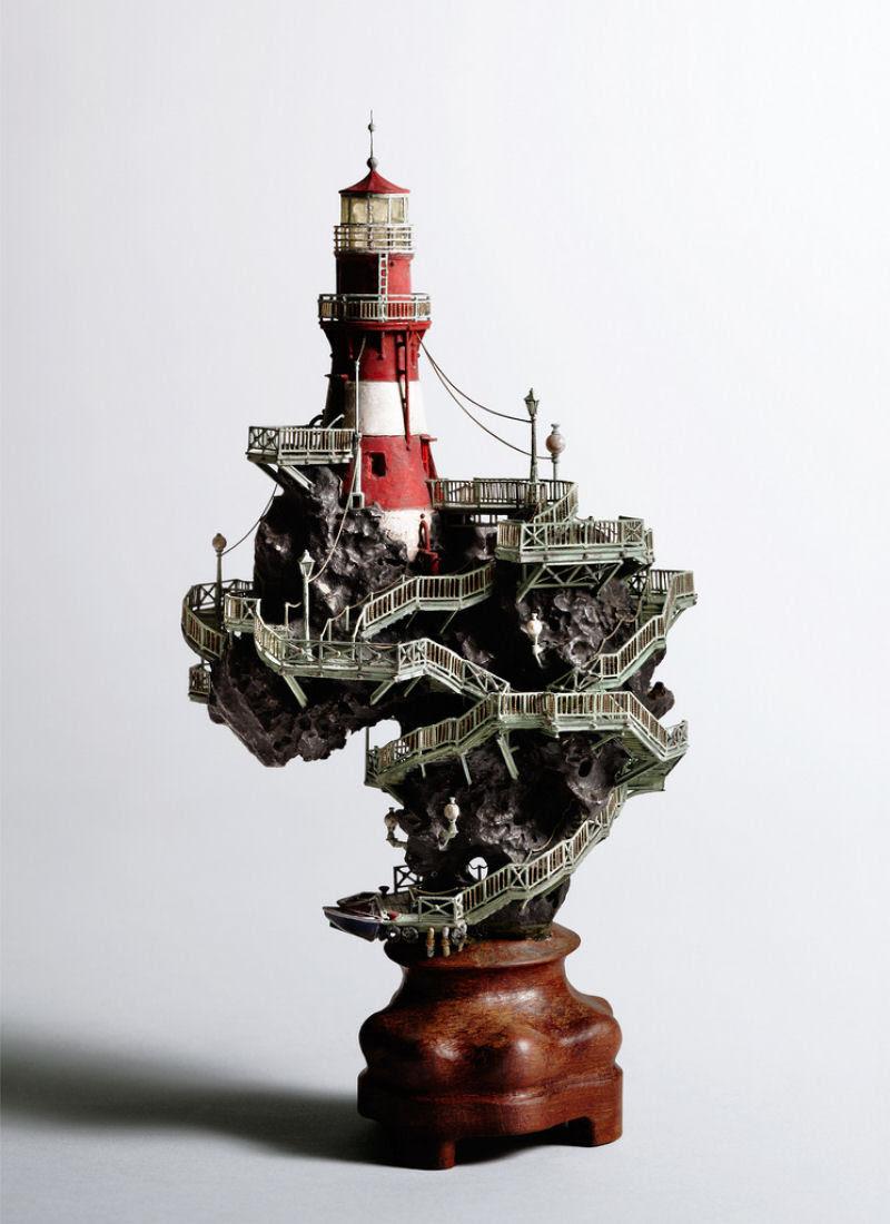 As intrincadas esculturas em miniatura de Takanori Aiba 05