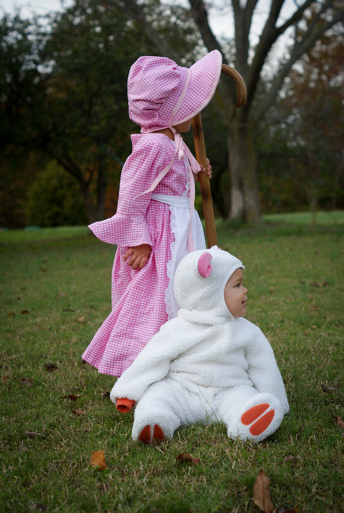 Little Bo Peep and her sheep