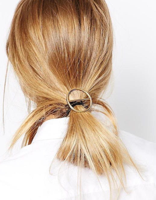 Le Fashion Blog 15 Ways To Wear Round Circle Hair Clip Pin Accessory Hairstyle Tie Ponytail Blonde Via Asos