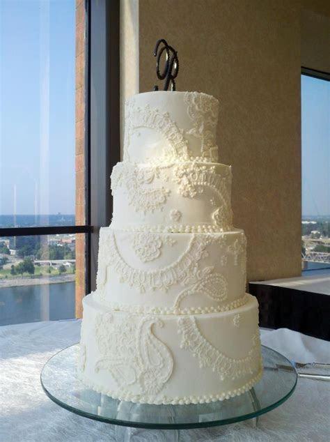25 Lace Wedding Cake Ideas   Stylish Eve