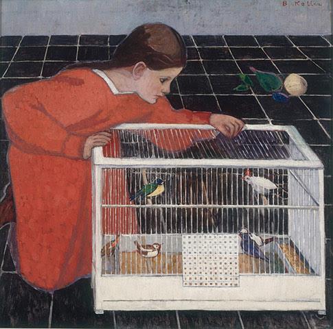 Portrait in Vienna: Broncia Koller (1863-1934), Silvia Koller with a Bird Cage, 1907-08