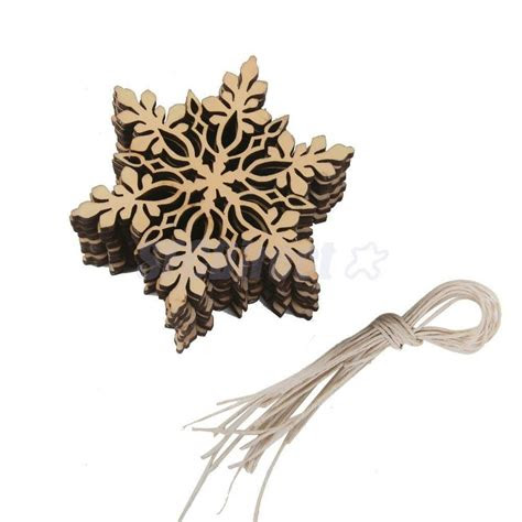 wood leaf accents snowflake christmas tree hanging