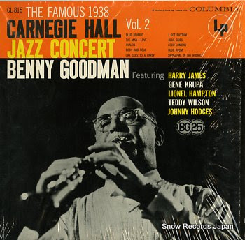 GOODMAN, BENNY famous 1938 carnegie hall jazz concert vol.2, the