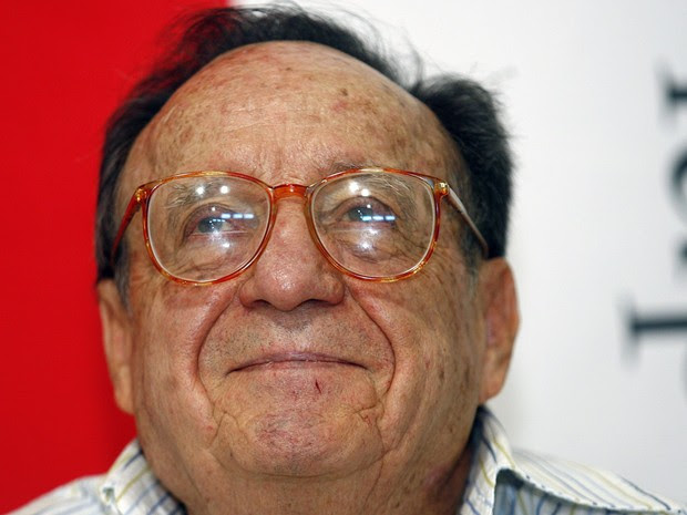 Roberto Gomes Bolaños durante apresentação da fundação Chespirito na Cidade do México em 2008 (Foto: Francisco Vega/AFP)