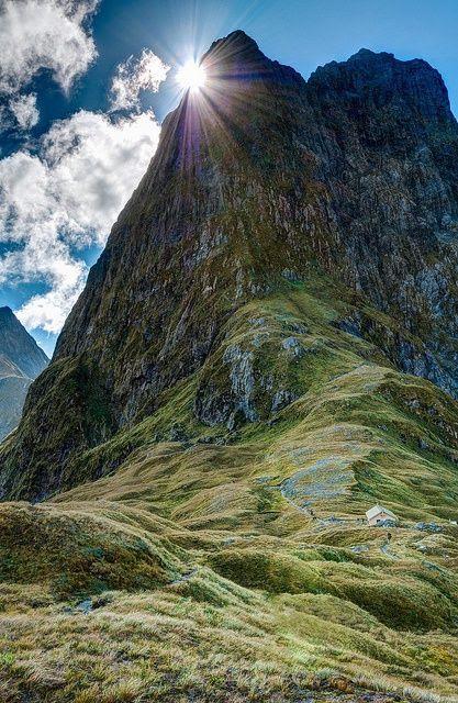 pista awesomel Milford, Nueva Zelanda.
