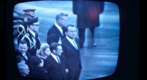 President Nixon at President Johnson's (LBJ's)funeral