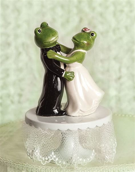 Dancing Froggie Wedding Cake Topper   Wedding Collectibles