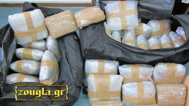 Ποσότητα-μαμούθ ναρκωτικών εντόπισε η ΕΛ.ΑΣ. σε Αθήνα και Ηγουμενίτσα