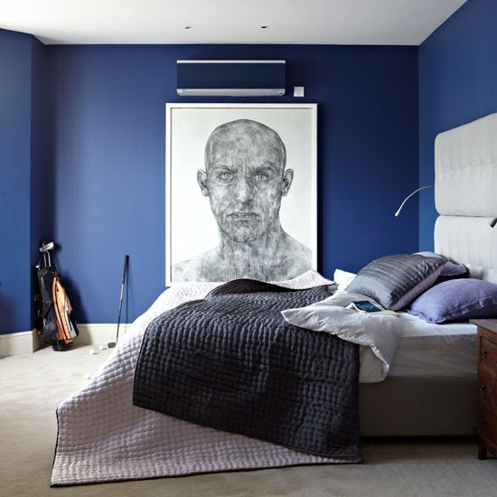 Contemporary blue bedroom | Bedroom decorating ideas | Bedroom | Livingetc | IMAGE | Housetohome.co.uk