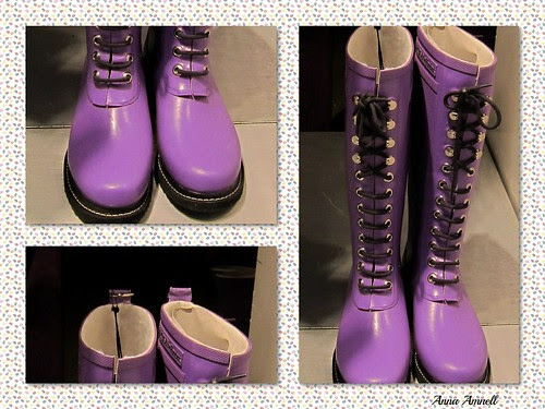 lila boots by Anna Amnell
