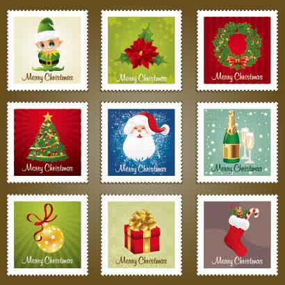 切手フレーム枠クリスマスデザインのイラストaieps ベクタークラブ