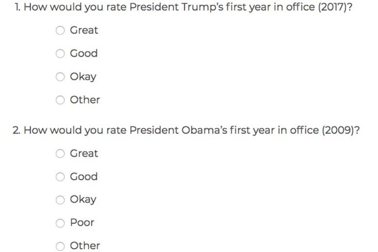Trump vs. Obama