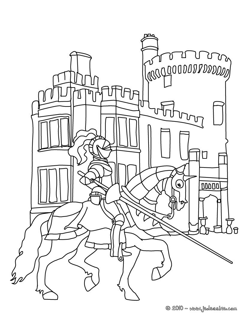 knight on horseback in front of his castle 01 wpd ljm