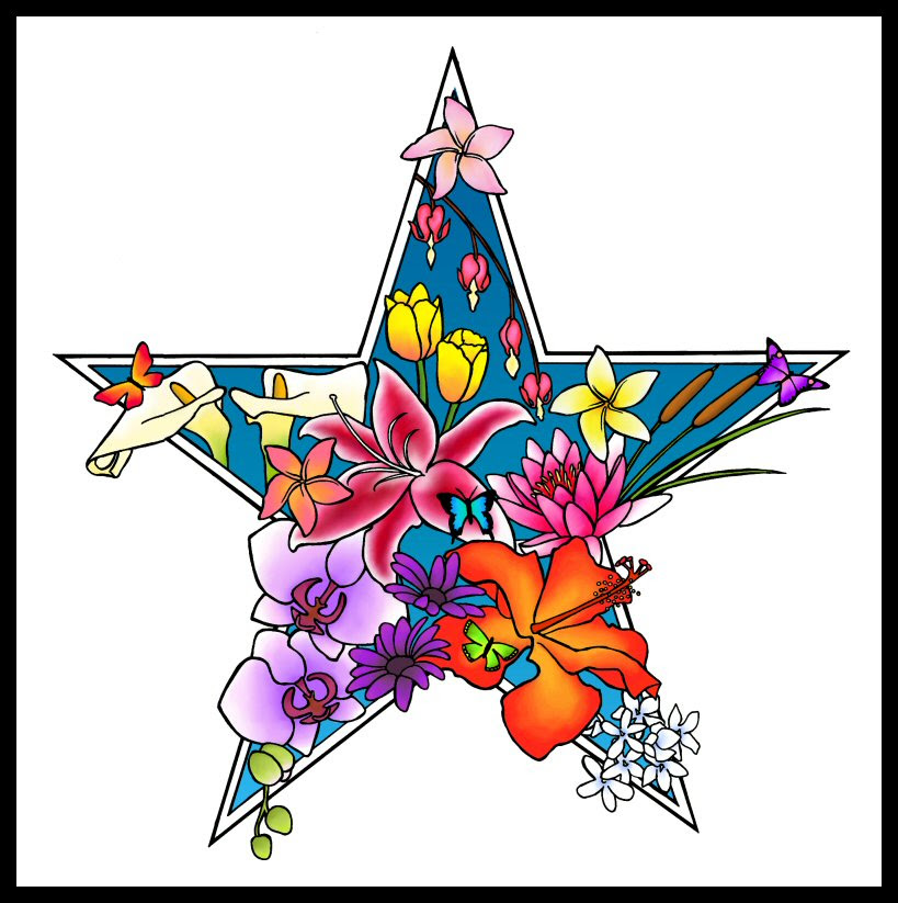 Free Star Flower Tattoo Designs Download Free Clip Art Free Clip