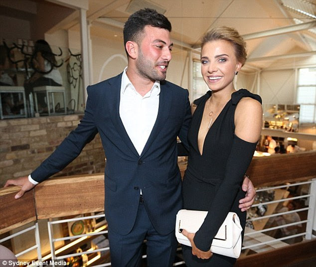 Smitten: Olena made her public debut with boyfriend Rodney Maroun at a beauty launch in Sydney earlier this month