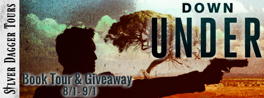 Book Tour Banner for the thriller Down Under from the Faluau File by Mike Gomes with a Book Tour Giveaway