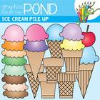 Icecream Pile Up! - Ice Cream Graphics / Clipart