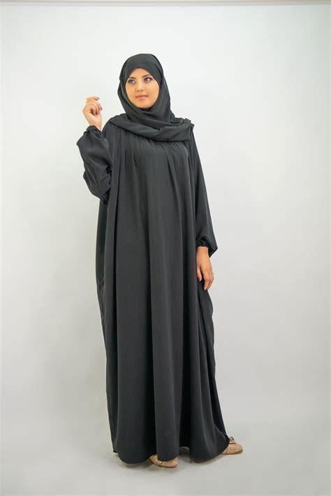 abaya with integrated hijab and scarf