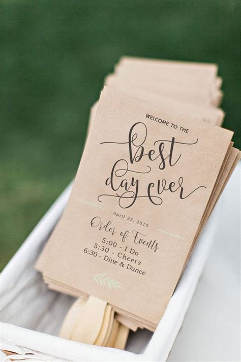 ideas  fan wedding programs  pinterest