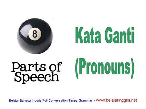 kata ganti  bahasa inggris pronouns  contohnya