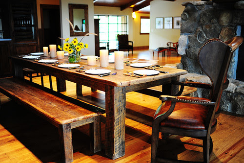 rustic western dining table