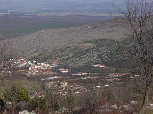 Picure of the hill of Podbrdo, taken from moun...