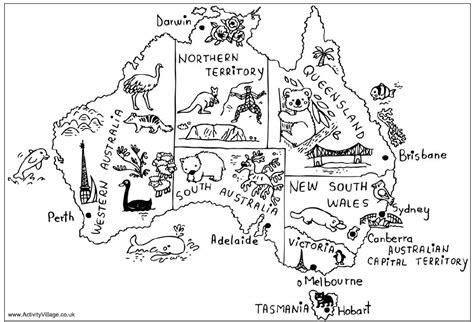 australian map  animals  highlights