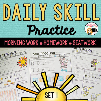 Morning Work Level 1: Packet 1 for Kindergarten and First Grade