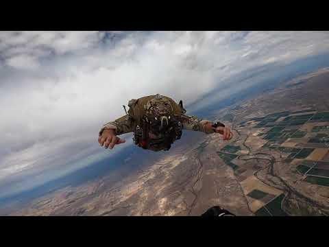 Parachute Jump - AMAZING Aerial Footage - Pararescue