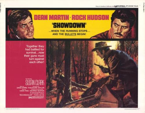 SHOWDOWN (1973) - DEAN MARTIN MOVIE POSTERS (Part 7/10)By the late 60′s and early 70′s DEAN MARTIN's movie roles were mainly Westerns (outside of his Matt Helm movies- see Part 1). One of them is this 1973 virile film starring his real life good friend Rock Hudson as a tough Sheriff hounding Martin, his ex best friend turned robber. Watch the movie trailer here.Above is the vintage half sheet movie poster sporting a great illustration painting.In April 2016 All our RAT PACK (Frank Sinatra, Dean Martin, Sammy Davis Jr…) posters are ON SALE HereIf you like this entry, check the other 9 parts of this week's Blog as well as our Blog Archives and all our NEW POSTERSThe poster above courtesy of ILLUSTRACTION GALLERY
