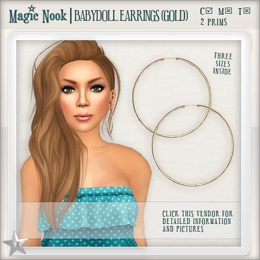 [MAGIC NOOK] Babydoll Earrings (Gold)