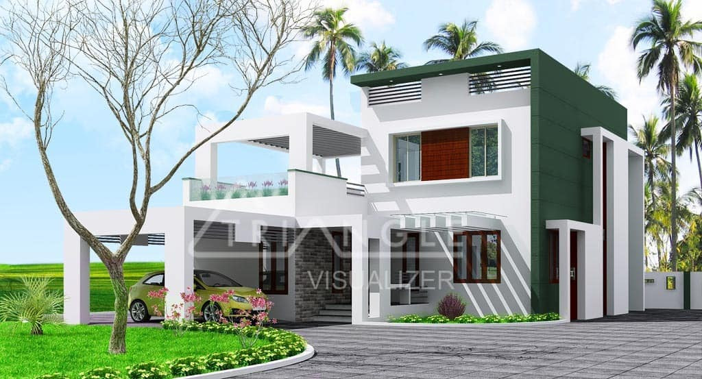 Low Cost Contemporary Kerala Home Design At 2000 Sq Ft