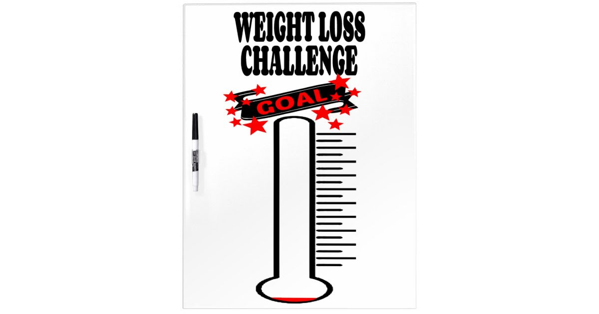 Weight Loss Goal Thermometer BLANK Dry Erase Board | Zazzle