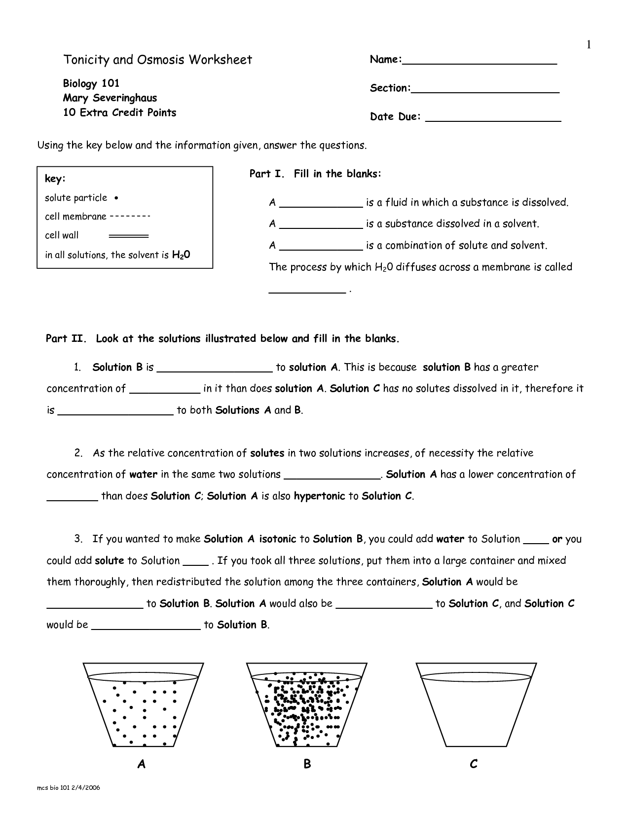 13 Best Images of Diffusion Worksheet Key  Osmosis and Tonicity Worksheet Answer Key, Diffusion