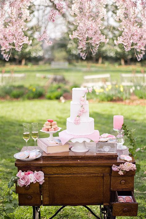 Cherry Blossom Wedding Inspiration   Glamour & Grace
