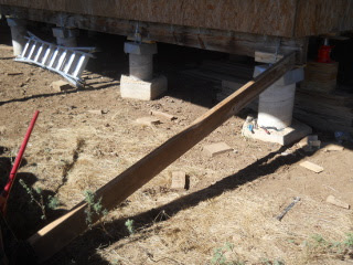 Pushing Beam in Place with Floor Jack