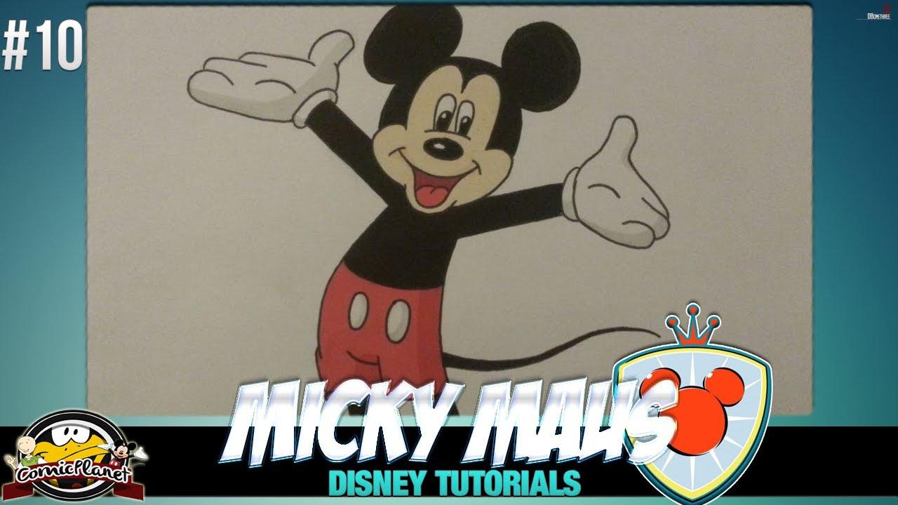 Disney Tutorial - Wie zeichnet man Mickey Mouse #10 - YouTube