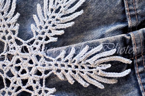 Indigo Ice Snowflake Detail