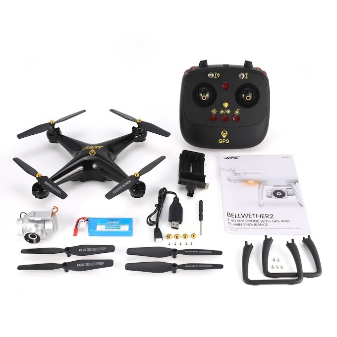 RC Drone Selfie Dual GPS Positioning Quadcopter with 1080P Wifi FPV Adjustable Wide Angle Camera Follow Me Model