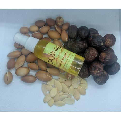 Huile d'argan cosmétique BIO pour cheveux et la peau