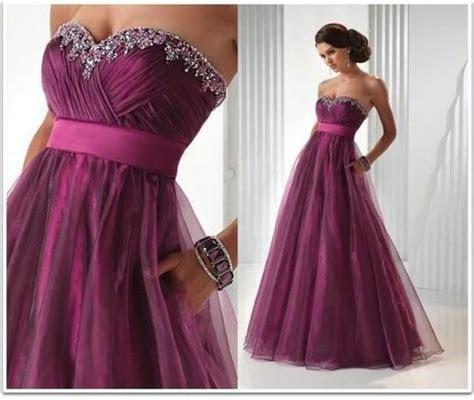 Custom Stock Purple Formal Long Evening Party Bridesmaid