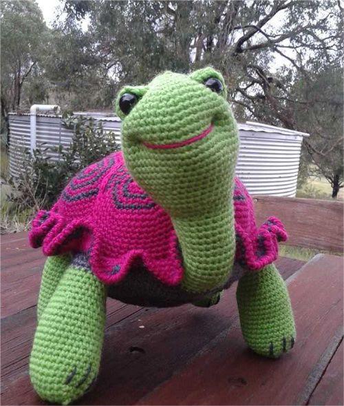 En sød hæklet skildpadde. Desværre har jeg ingen opskrift. #skildpadde #turtle