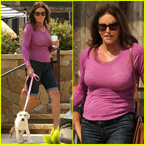 Caitlyn Jenner Brings Bertha the Puppy Shopping on Sunday