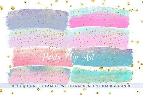 Pastel Confetti brush clip art, Confetti Brush Transparent