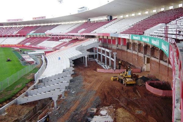 Material importado para os estádios estão livres dos impostos