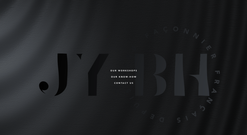 example of website with triple black color palette in 2019