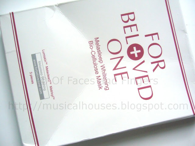 for beloved one melasleep whitening mask