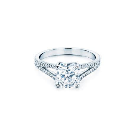 Square carré cut diamond engagement ring   Martin Katz